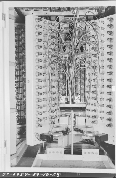 This an excellent shot of the main long-term memory unit, Photo courtesy of the NRC Archives.